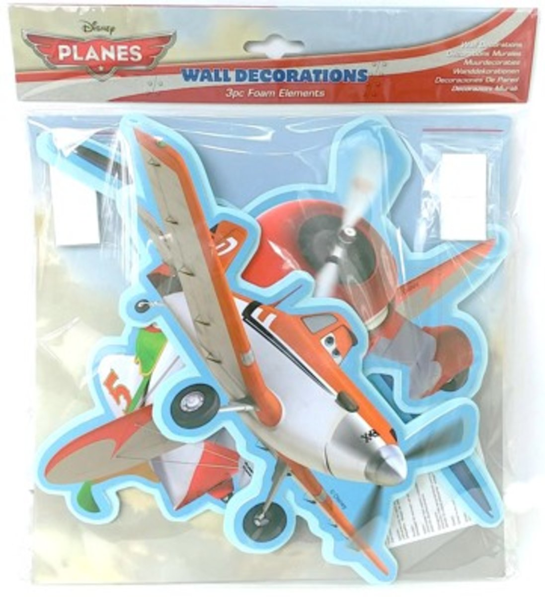 PLANES FOAM WALL DECORATIONS  3's (parallel import goods)