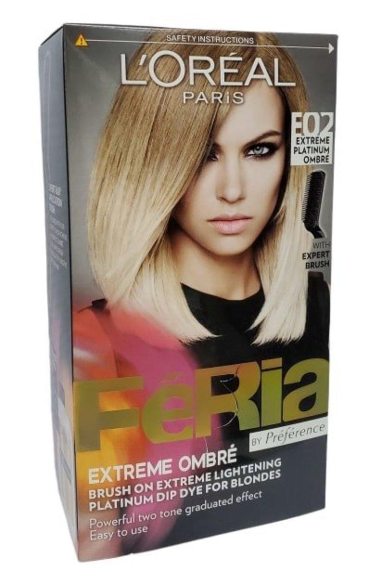 PREFERENCE HAIR COLOUR PLATINUM OMBRE E02 1 box (parallel import good)