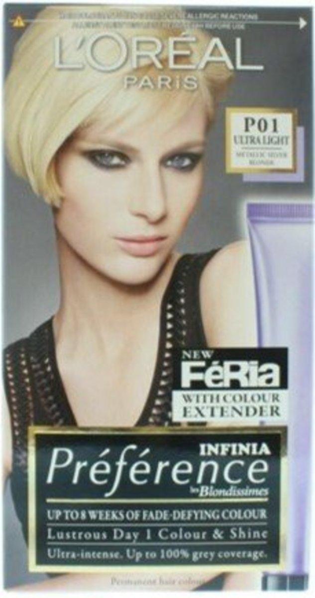 染髮劑  PREFERENCE SILVER BLONDE P01 1 box (平行進口)