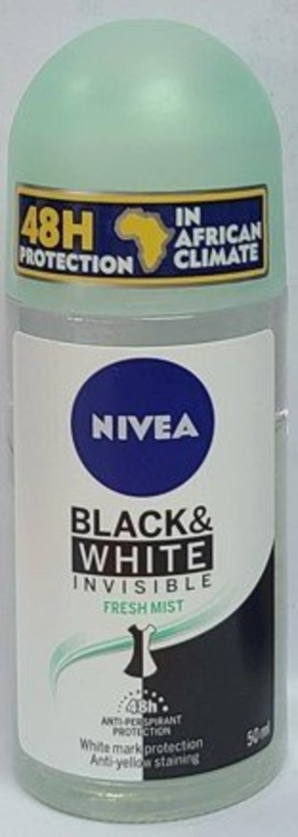 ROLL ON 50ml - BLACK & WHITE INVISIBLE FRESH MIST