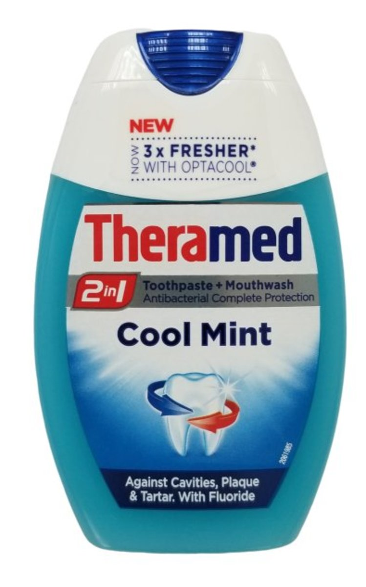 TOOTHPASTE & MOUTHWASH 2 IN 1 - COOL MINT 75ml (parallel import goods)
