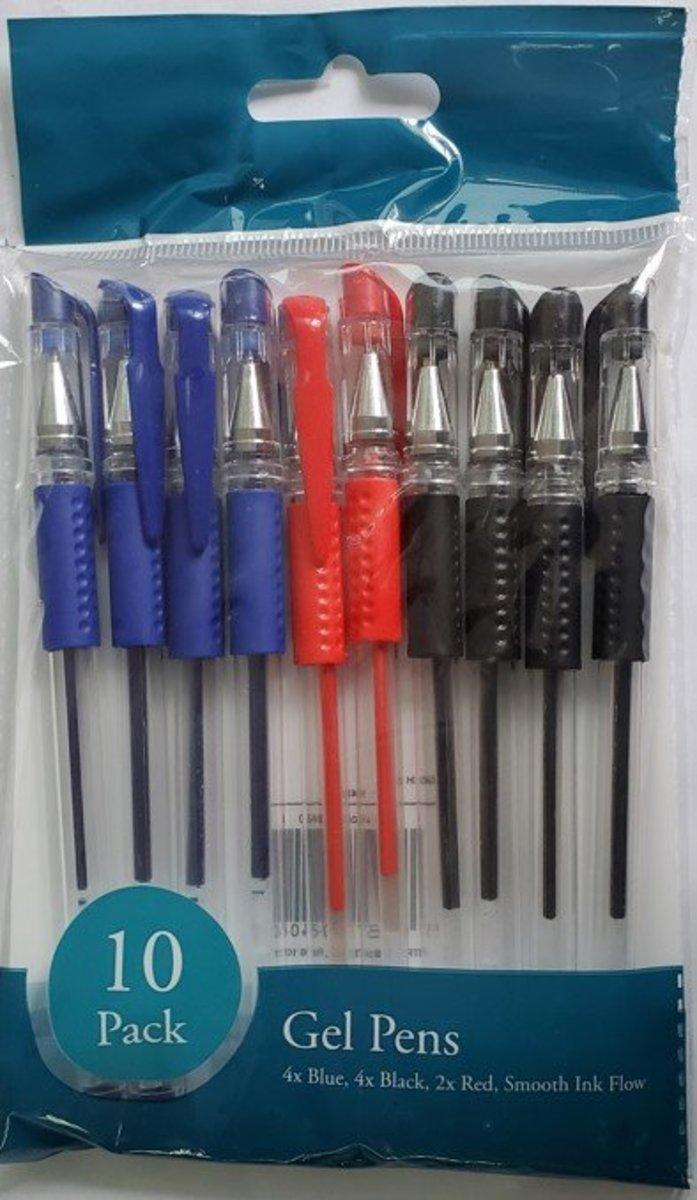 啫喱筆 (藍色*4,黑色*4,紅色*2) 10's (平行進口)
