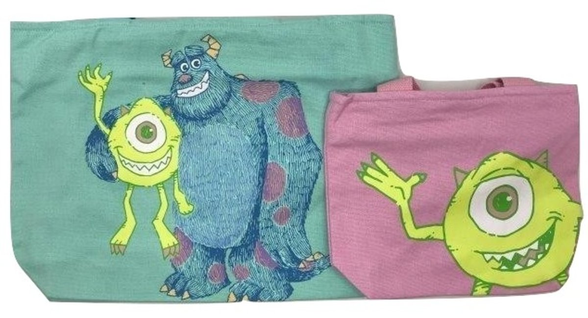 Tote bag Mother & Kid Mike and Sulley(4794) [Licensed by Disney]