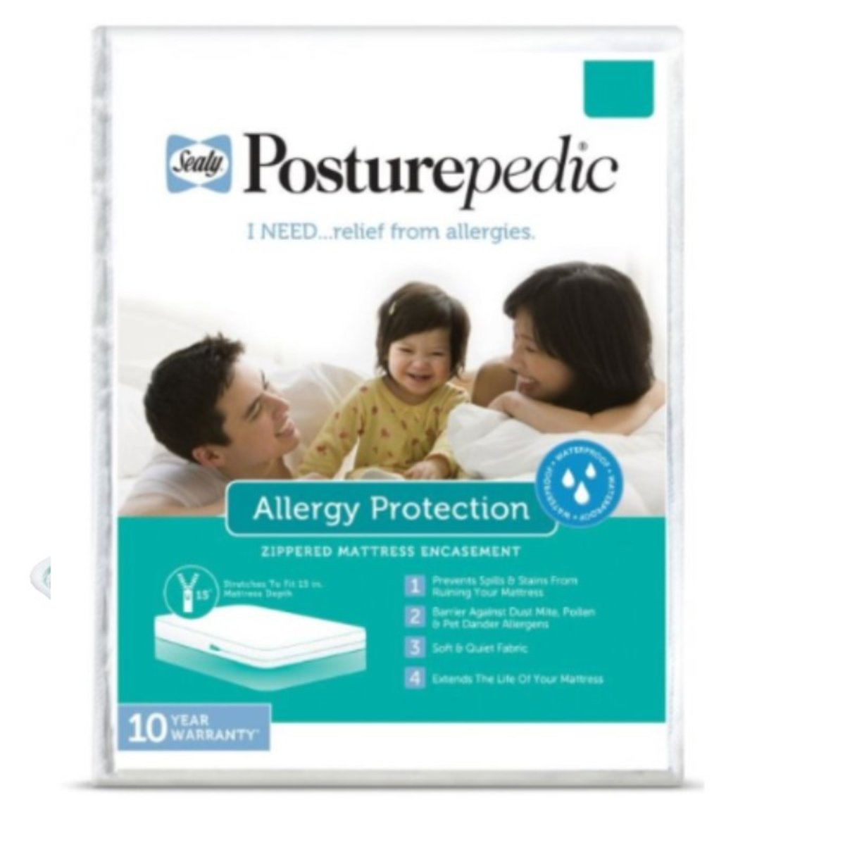 Sealy Posturepedic Allergy Protection Mattress  -Twin (Parallel Imports Product)