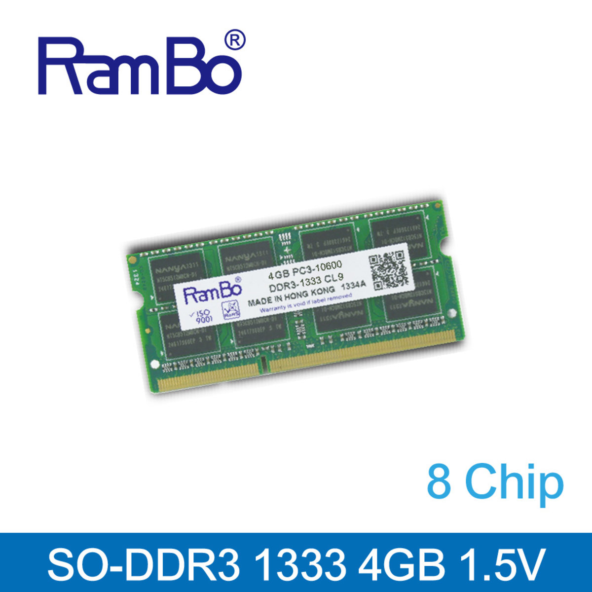4GB DDR3 1333MHz SO DIMM 8-Chip 1.5V Memory for Notebook / Laptop