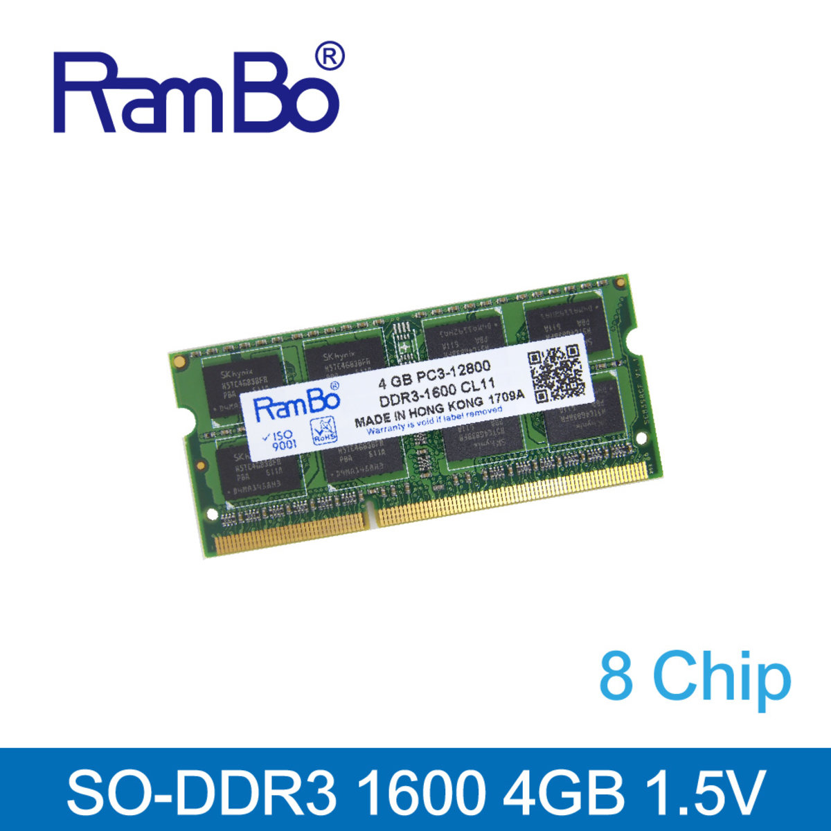 4GB DDR3 1866MHz SO DIMM 8-Chip 1.35-1.5V Memory for Notebook / Laptop