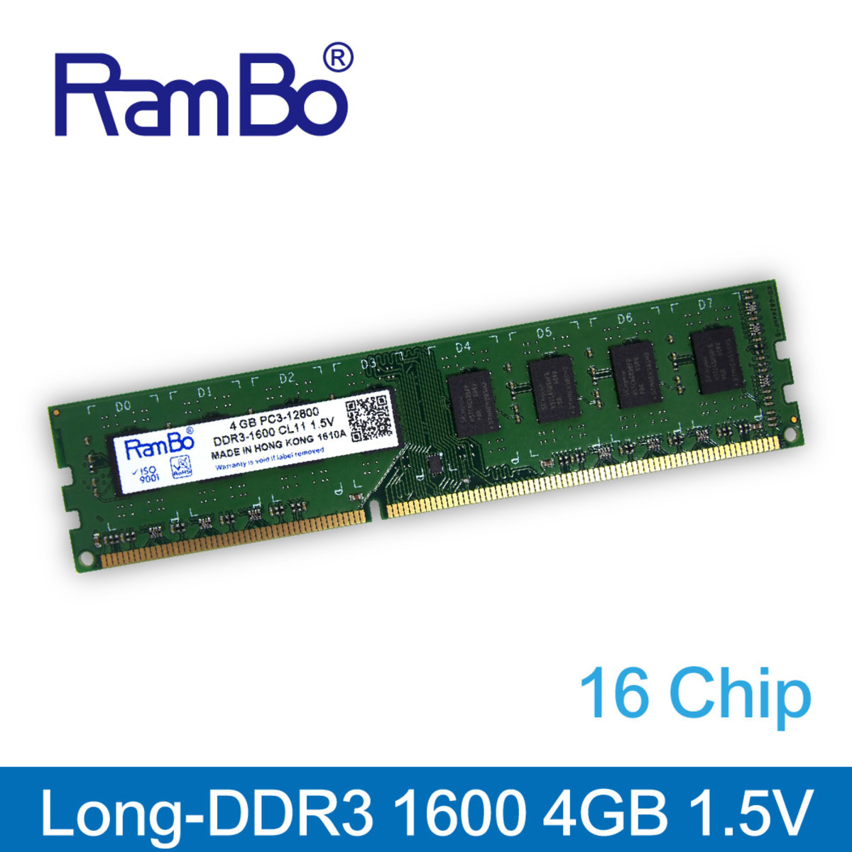 4GB DDR3 1600MHz Long DIMM 16-Chip 1.5V Memory for PC Desktop