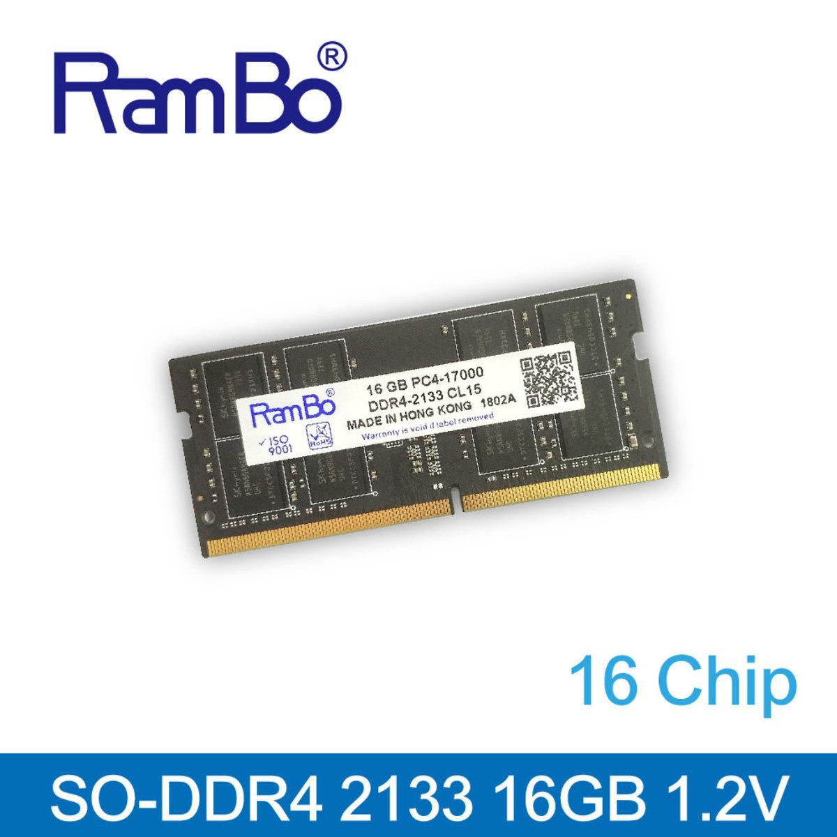 16GB PC4-17000 DDR4 2133MHz SO DIMM SDRAM for PC 記憶體 內存條