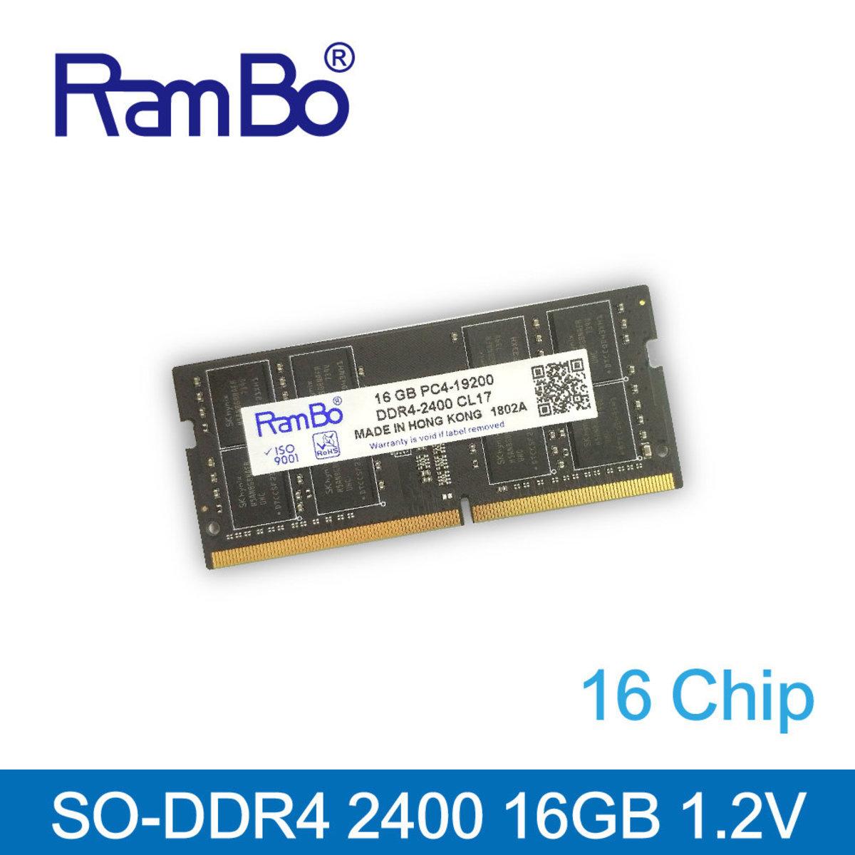 16GB PC4-19200 DDR4 2400 SO DIMM SDRAM for PC 記憶體 內存條
