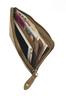 Castello Women's Multi-functional Zipped Pouch Wallet w/mobile phone pocket (Brown)