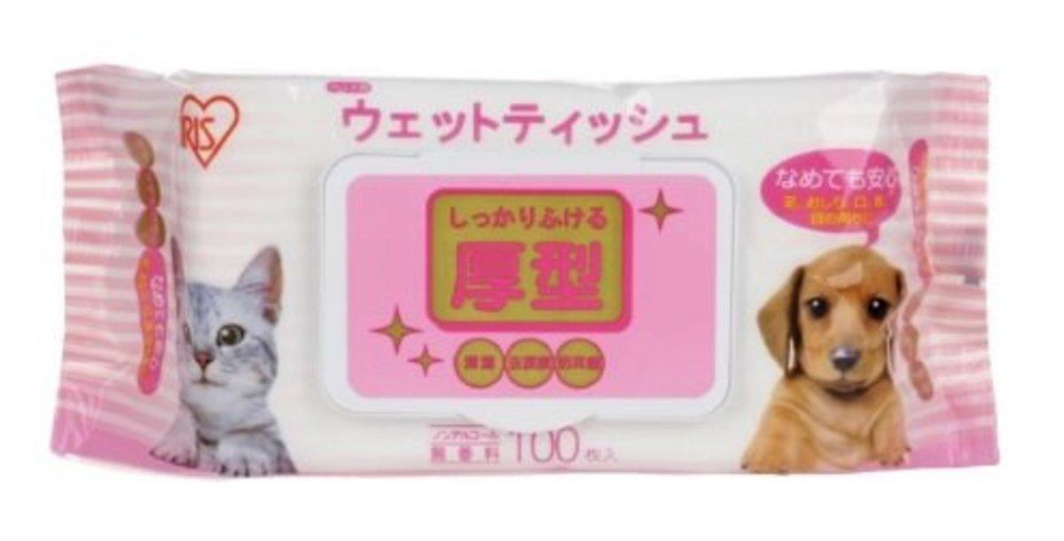 IRIS厚型防蟎寵物濕紙巾100片