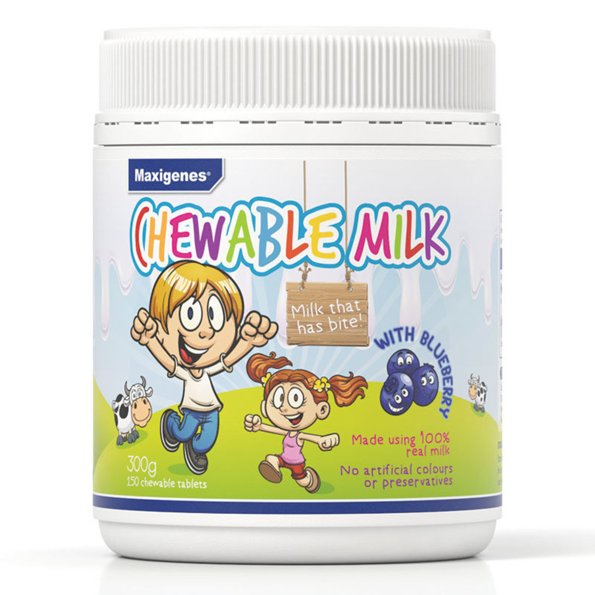 Chewable Milk With Blueberry 150 Tablets (Parallel Imports Product)