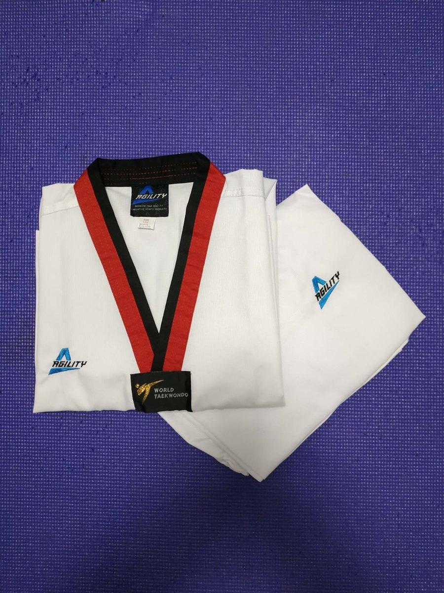 Taekwondo ultra-light fighter uniform (Red and black trousers)(100cm)