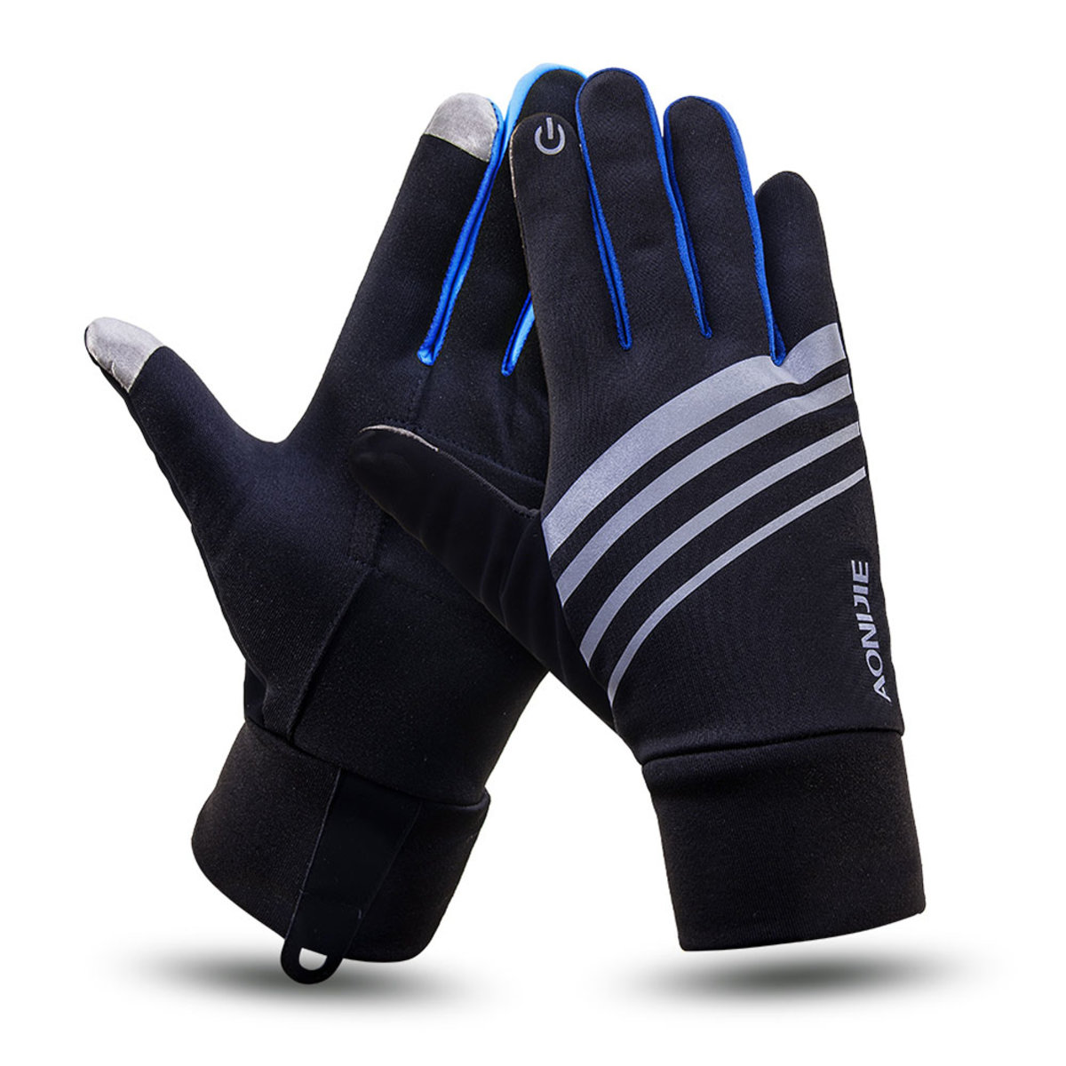 M-51 Winter Warm Windproof Touch Screen Gloves With Key Pocket For Outdoor Sports Running Hiking Cycling – Blue