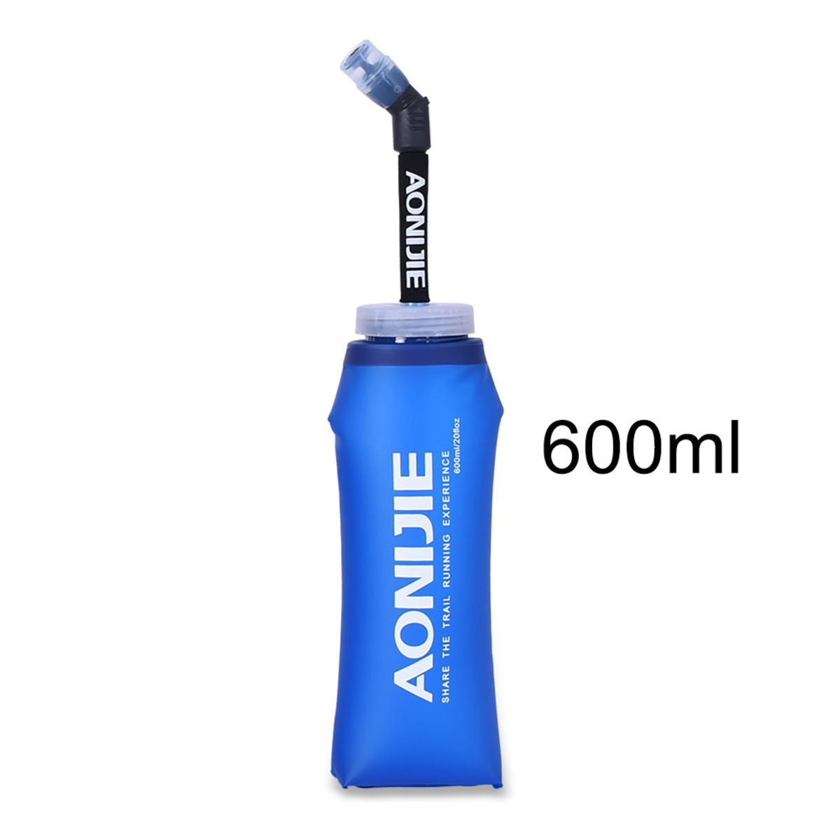 SD13 Long Straw Foldable Soft Water Bottle 600ml