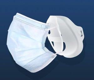 HKID (1個裝)口罩神器 - 口罩支架 - 內托3D立體支撐墊,透明膠袋包裝