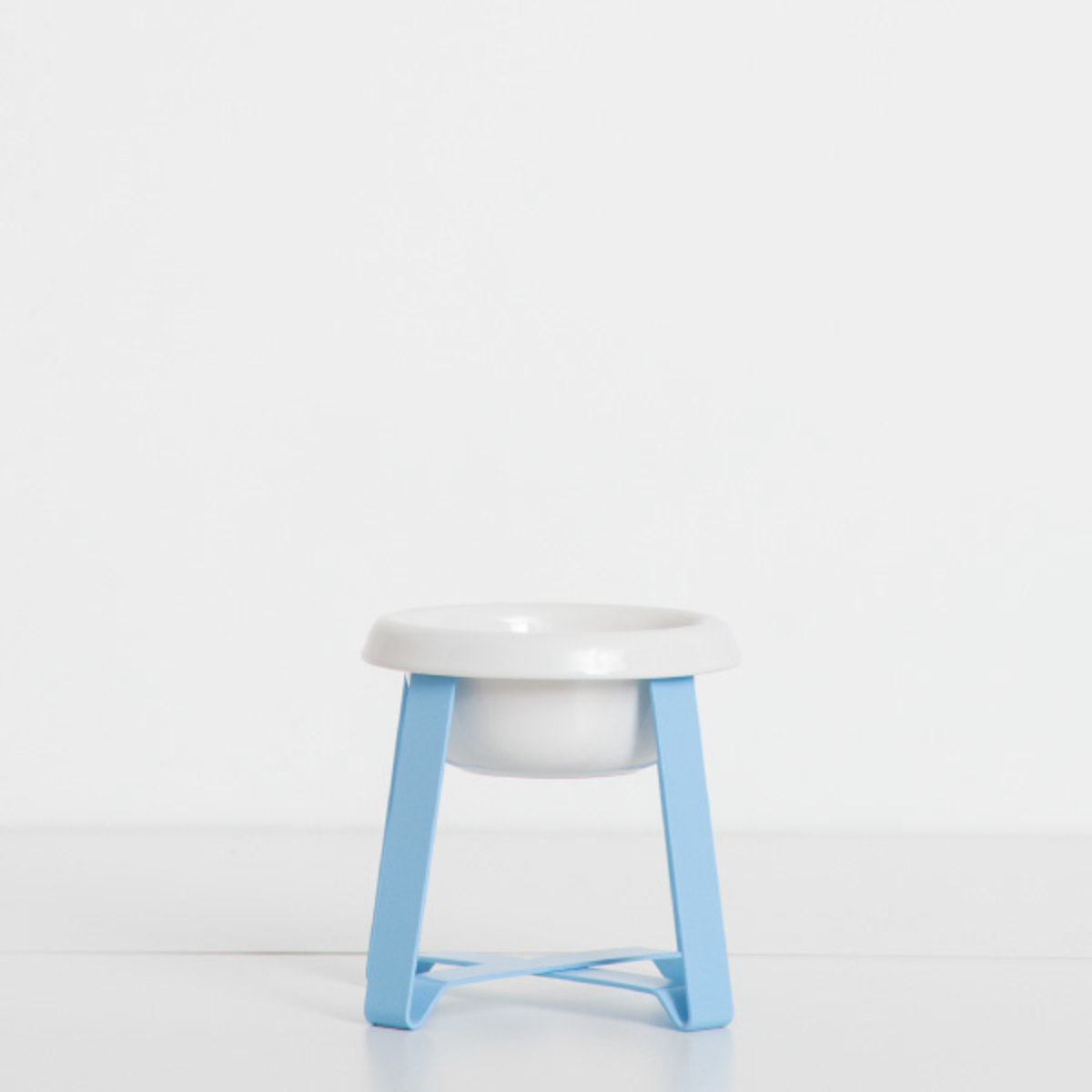 Food Stand with Shallow Ceramics (S Tall-Blue)