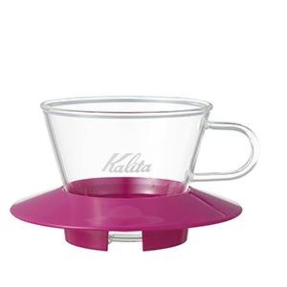 Kalita 155 Wave Series Glass Dripper Cherry Pink