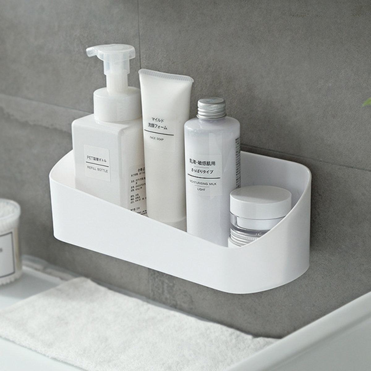 Punch-free bathroom simple storage shelf