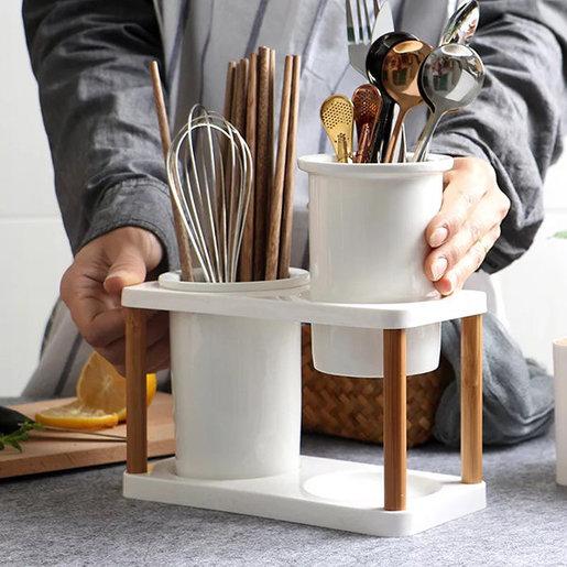 日式手工陶瓷筷子筒