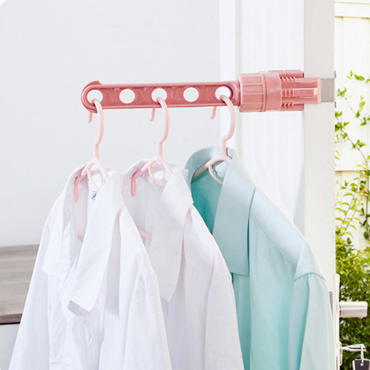 Single pole stainless steel drying rack