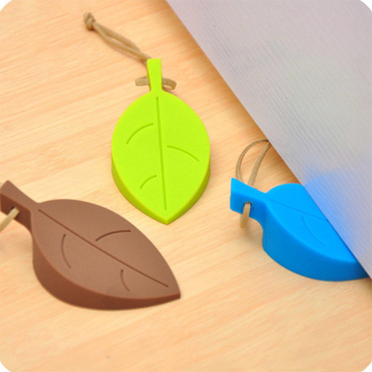 創意樹葉矽膠門擋兒童防夾手安全門卡