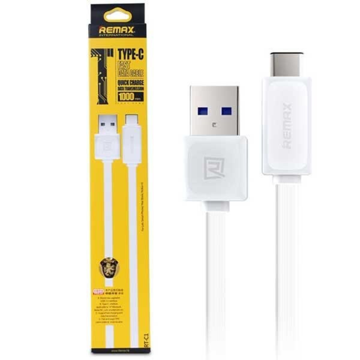 RT-C1 Type-C Fast Data Cable - 白色