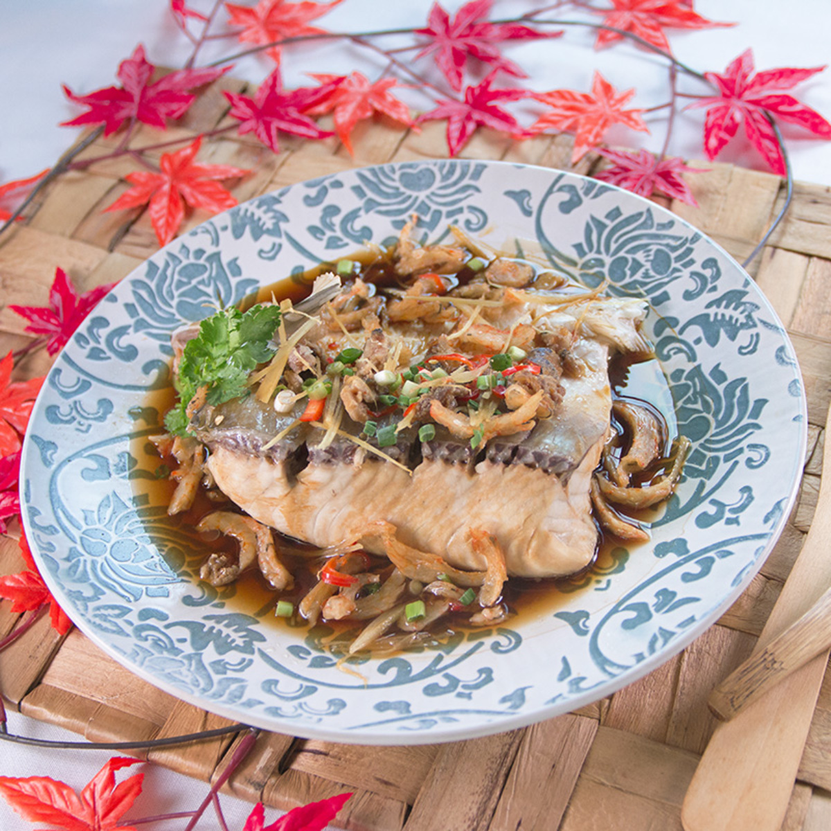 Steamed Fish Belly w/ Dried Shrimp & Salty Fish