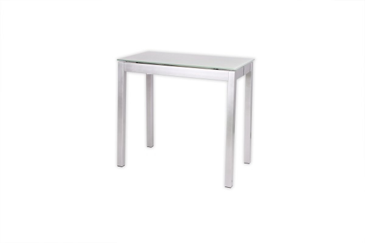 Black tempered glass stretch dining table