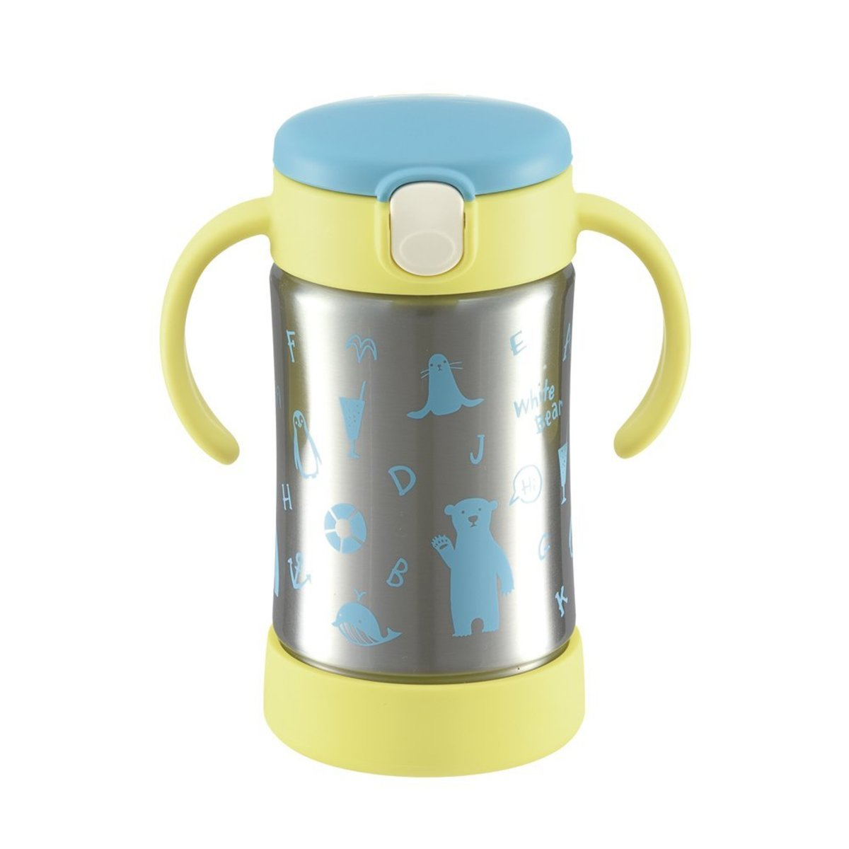 RICHELL保溫不銹鋼飲管杯 300ml (粉藍色)
