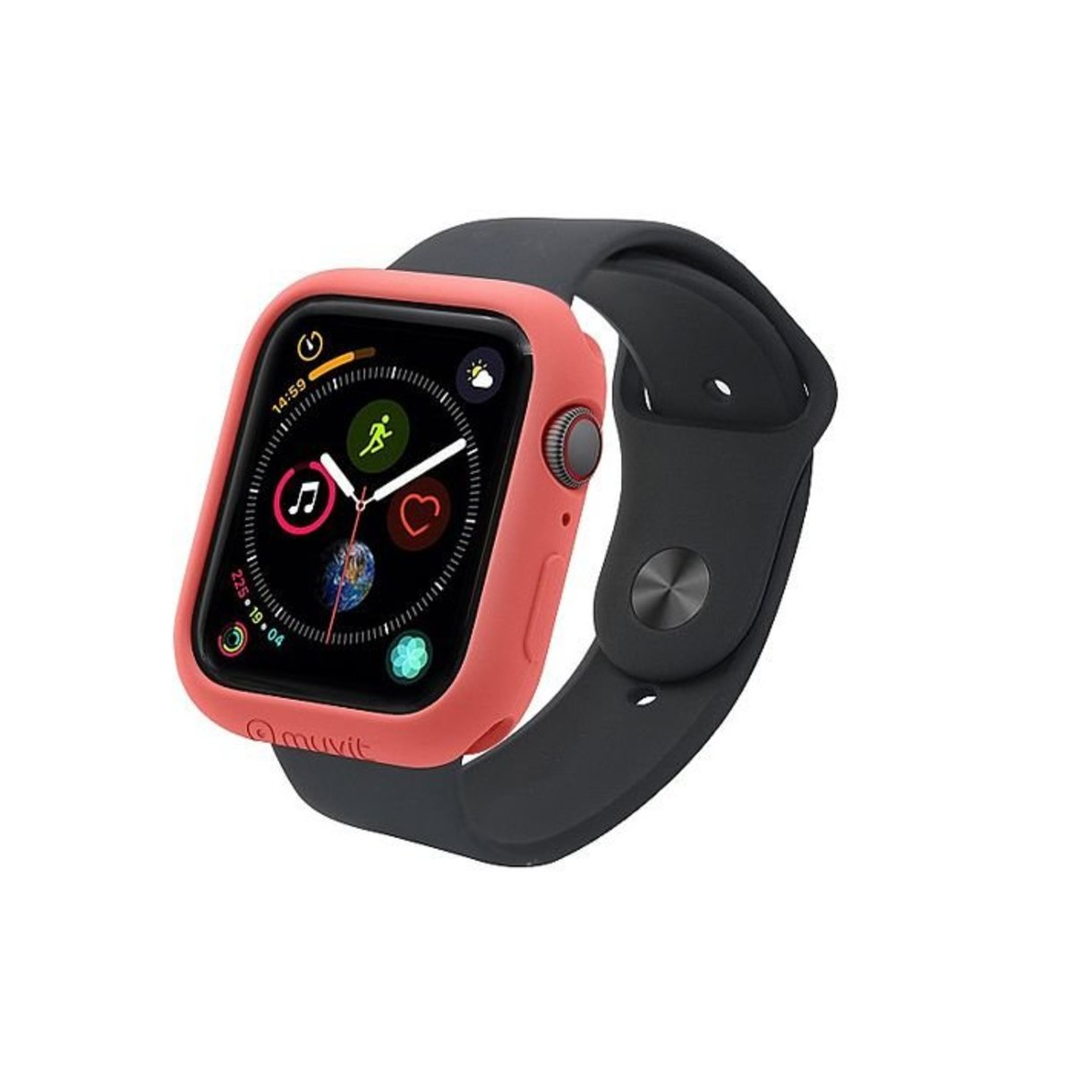 MUVIT Impact Protection Case (44mm) for Apple Watch Series 4, Living Coral