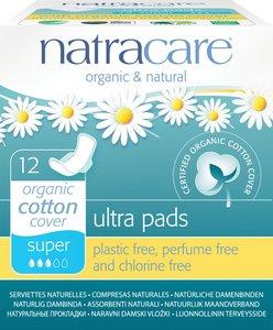 Natracare 有機棉超薄護翼衛生巾 (26cm 日用量多/ 夜用型) - 預防AFI 12片獨立包裝