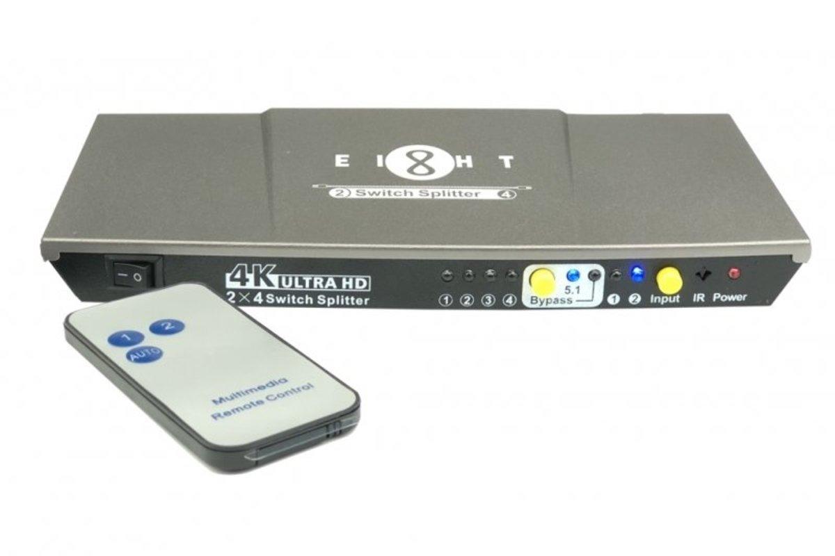 Eight HDMI Splitter 分配器 2入4出