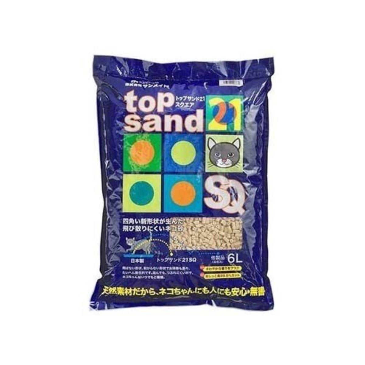 日本Top Sand 21 SQ四角形單通豆腐砂 6L