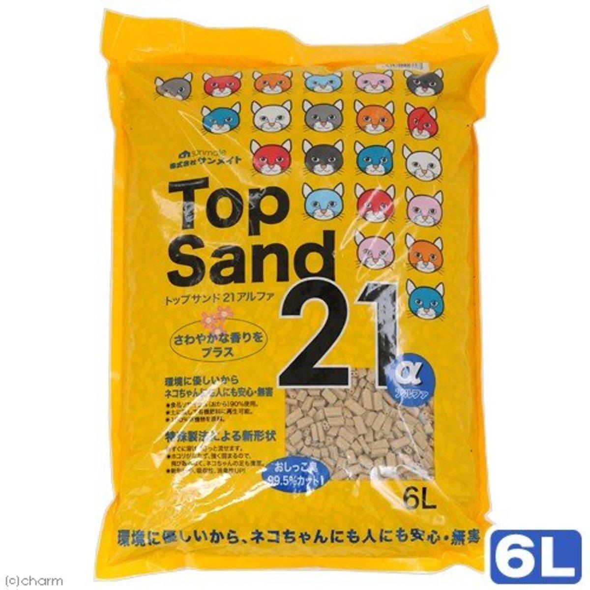 日本Top Sand 21 α 玉米雙通豆腐砂 6L