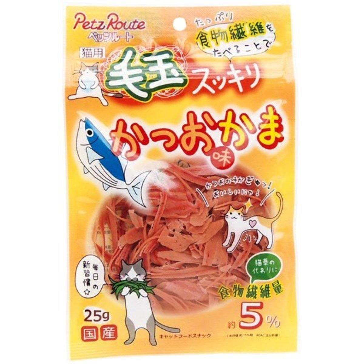 日本Petz Route 毛玉 去毛球 鰹魚片 25g (貓用) (粉橙) 7680688