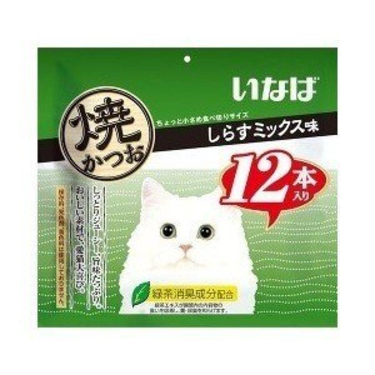 CIAO燒鰹魚條 しらすミックス味 小包裝 15g [銀魚口味] (綠) 12條袋裝