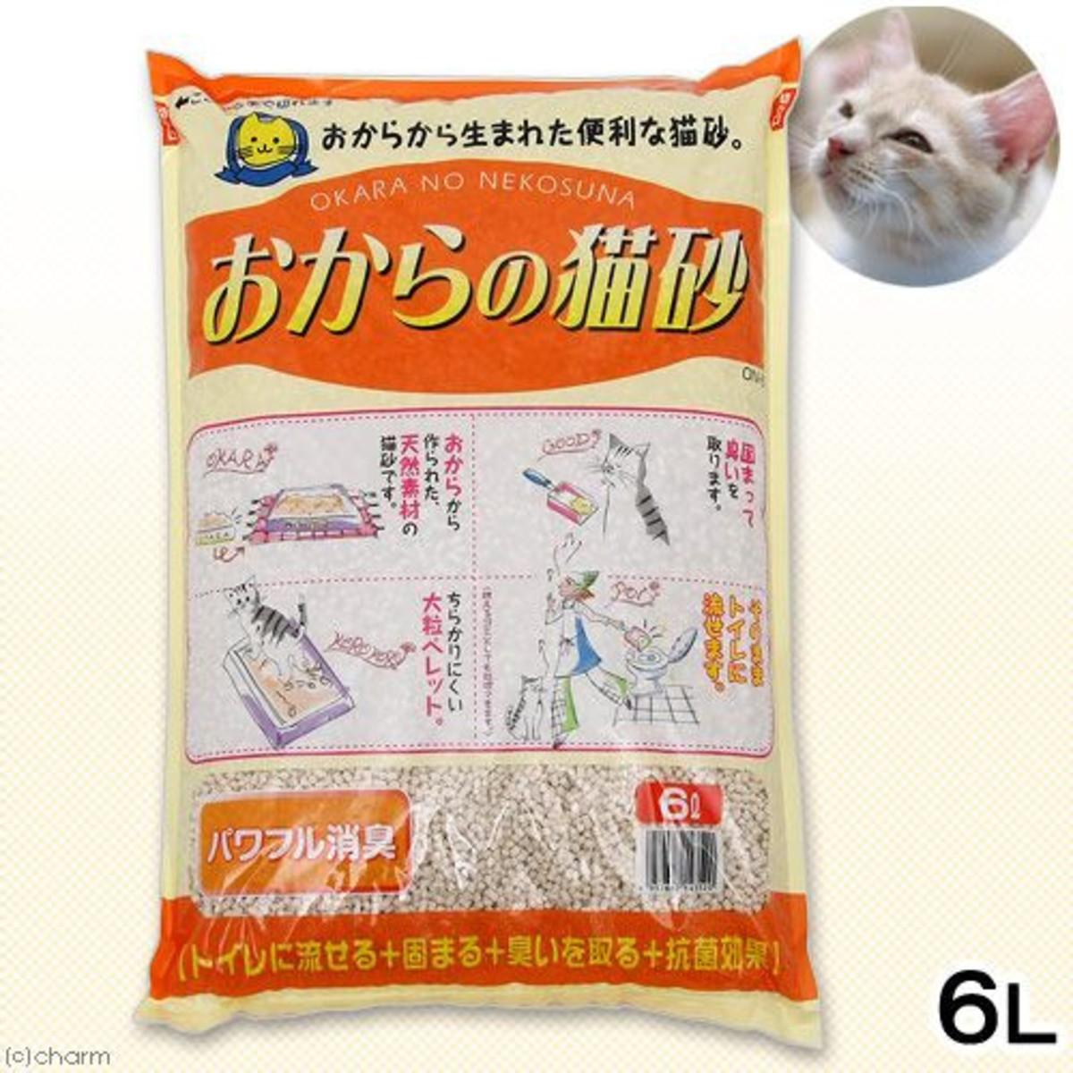 【豆腐貓砂】日本Hitachi豆腐貓砂 橙色原味 6L