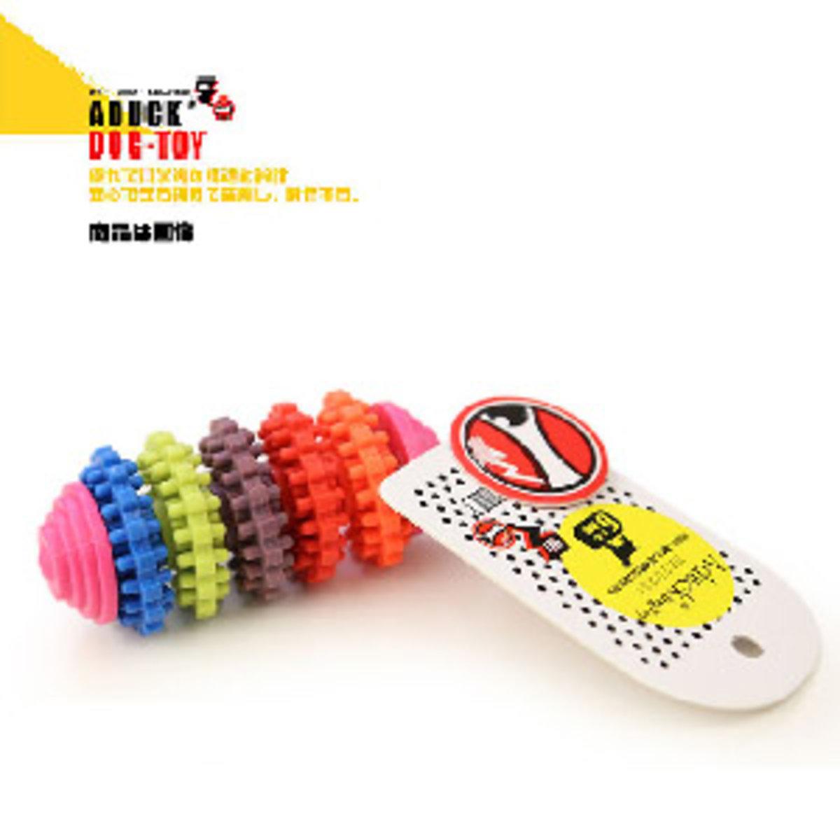 Aduck 彩色5齒輪磨牙狗狗訓練玩具 (顏色隨機)