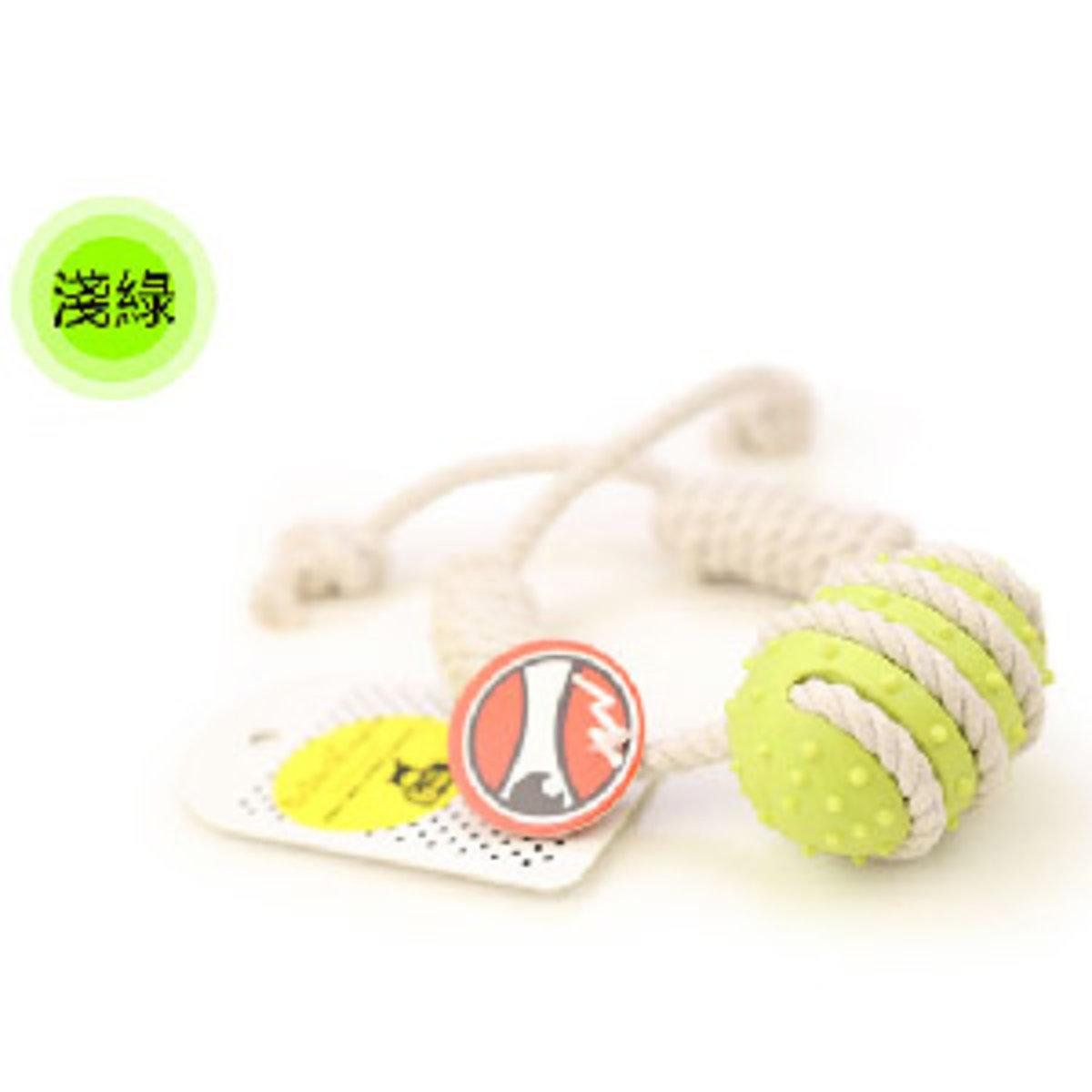 Aduck 棉繩球磨牙狗狗訓練玩具 (淺綠)