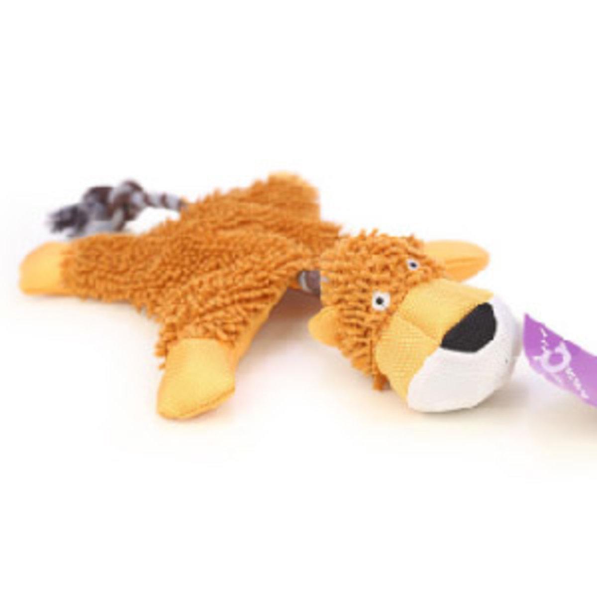Vicky 毛絨益智發聲潔齒狗狗訓練玩具 傻瓜獅子