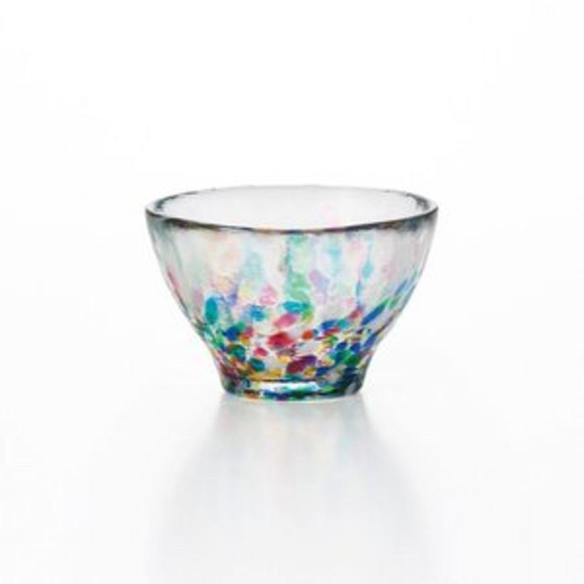 Ishizuka Sake Glass Cup Color Dot - 1pc F-71241