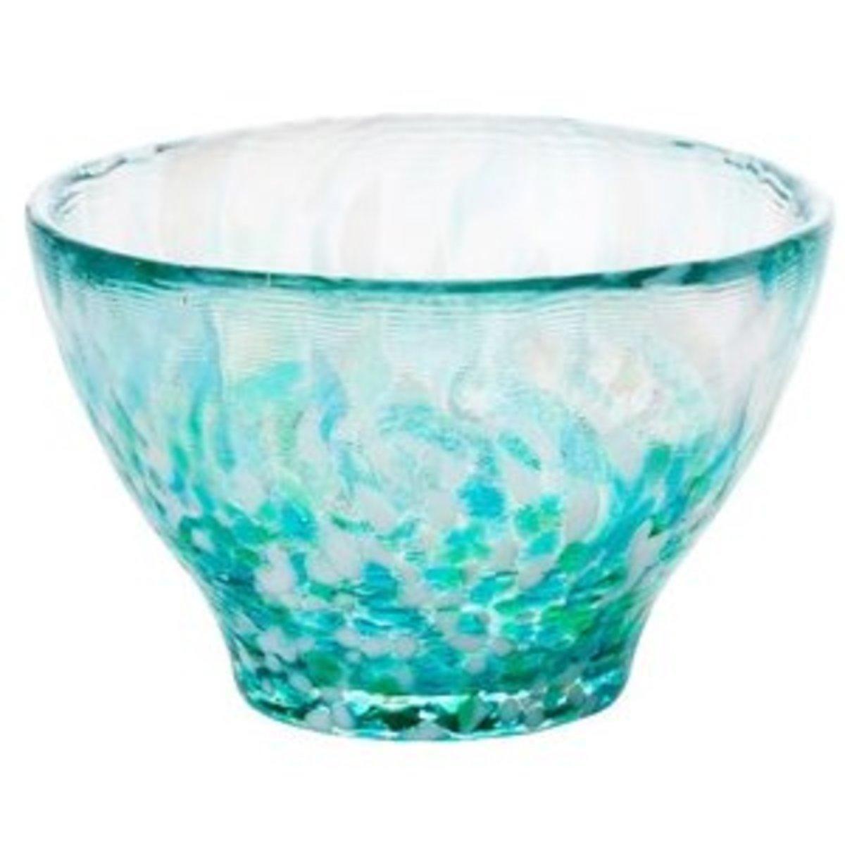 Ishizuka Sake Glass Cup Green Lake - 1pc F-49784