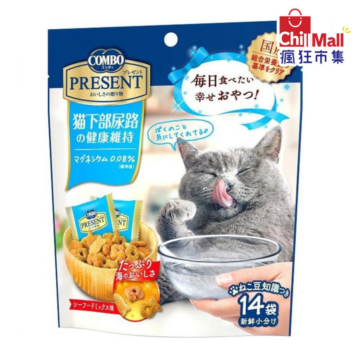 日本COMBO 二合一健康貓零食 下部尿路健康維持配方 42g (藍) 2051009