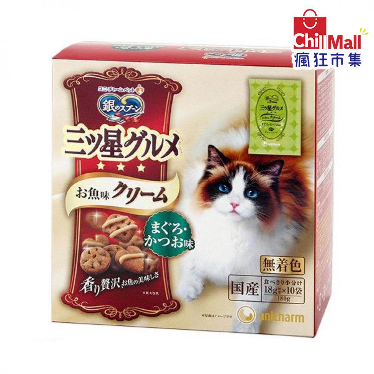 日本unicharm 三星銀匙貓脆餅 金槍魚及鰹魚味 180g 9630549