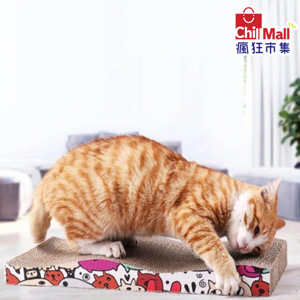 瓦楞紙貓抓板 The Cats Favorite七彩波浪平板