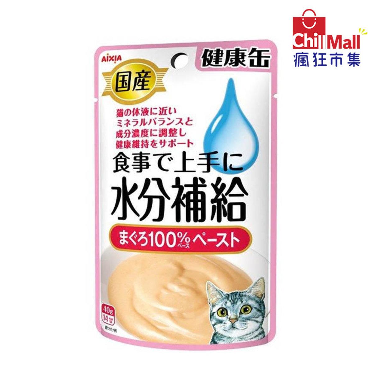 日本AIXIA愛嘉雅 健康缶水分補給濕糧包 金槍魚味 40g (粉紅) 4715368