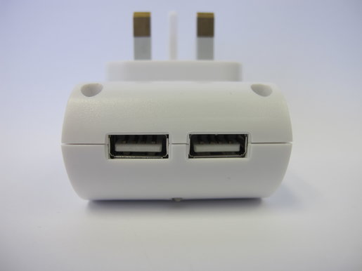 I-CHARGER SP10 WITH 2 USB OUTPUT (WHITE, 5V 3A)