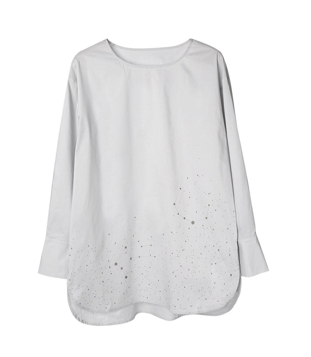 Constellation-print Cotton Shirt