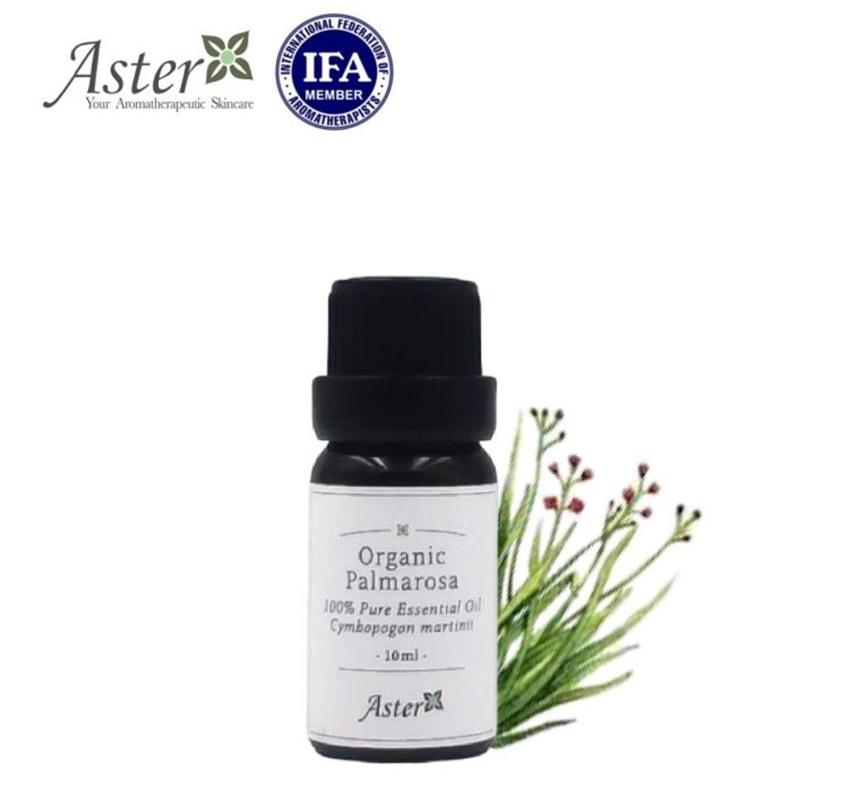 Organic Palmarosa Essential Oil (Cymbopogon martini) - 10ml